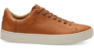 toms dark toffee pull up leather men s