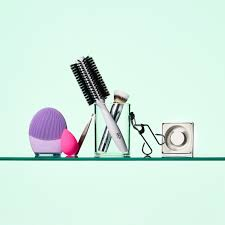 makeup brushes and hot tools