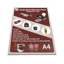 Free Samples A4 Transparent White Water Slide Decal Paper Inkjet Laser Paper Transfer Paper Buy Water Slide Decal Paper Inkjet Paper A4 Paper Product On Alibaba Com