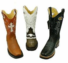western square toe rodeo cowboy boots