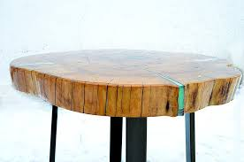 narrow coffee table rustic nature
