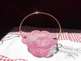 pink depression glass dish candy bowl