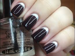 how to apply striping tape to a nail