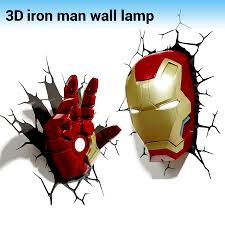 Creative Iron Man Shape 3d Wall Lamp Avengers Alliance Led Night Lights For Kids Room Decorate Children Gifts Wall Lamp Led Light For Wallsled Wall Light Aliexpress