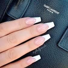nails coffin white tip nailstip