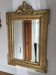 baroque style mirror gold leaf 1950