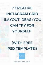 instagram grid layouts examples you can try for yourself
