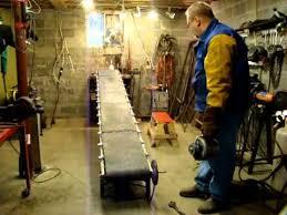 homemade conveyer belt for coal wood