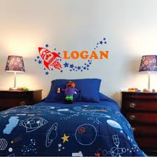 Outer Space Wall Decals Personalized Name Wall Decals Vinyl Written