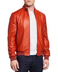 stefano ricci men s leather blouson