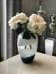 white bubble glass vase mulberry moon