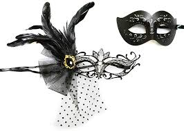 masquerade mask black leather