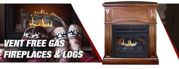 vent free gas fireplaces logs