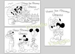 Sailor Mickey Mouse Birthday Party Kleurplaten Pdf Bestand Etsy