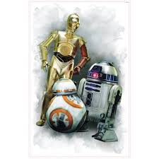 Wall Sticker R2d2 Cp30 And Bb Star Wars
