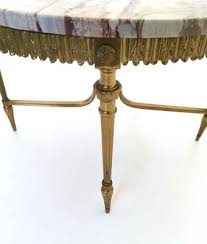 italian marble and brass coffee table