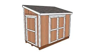 6 12 lean to shed door free diy plans