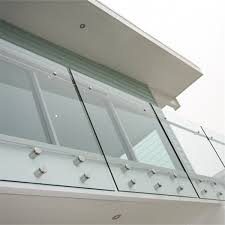 balcony glass frameless wall mount