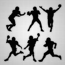 Football Player Tall Silhouette Wall Stickers Boys Football Players Decal Lot Ebay