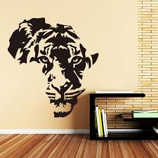 Art Design Home Decoration Pvc African Tiger Wall Sticker Waterproof Vinyl House Decor Animal Decals For Living Room Bedroom Wall Stickers Aliexpress