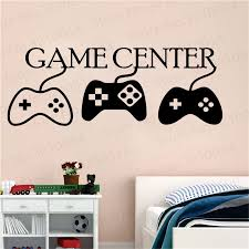 Game Center Wall Decals Play Room Vinyl Stickers Gamer Decal Cool Stickers Gamer Room Decor Video Game Wall Decals Pw210 Wall Stickers Aliexpress