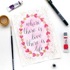 learn the art of brush pen lettering and watercolour painting