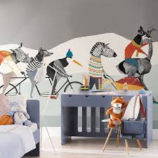 Waliicorners Hand Painted 3d Wall Cartoon Murals Wallpaper For Kids Room Animal Murals Background 3d Photo Wall Mural 3d Wall Paper Waliicorner S Store
