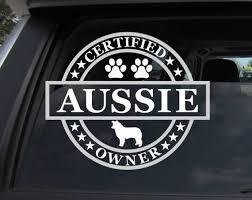 Certified Aussie Owner Vinyl Car Decal Certified Aussie Etsy