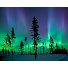 Unbranded Aurora Borealis Northern Lights Wall Mural Wr50512 The Home Depot