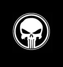 Punisher Skull Round A2 Military Window Decal Stickers Custom Sticker Shop