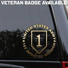 1st Infantry Division First Army Veteran Car Window Laptop Decal Sticker Patch Oracal Laptop Decal Stickers Vinyl Window Decals Truck Window Stickers