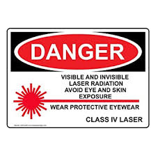 Danger Visible And Invisible Laser Radiation Sign Osha Safety Label Decal 5x3 5 In 4 Pack Vinyl For Process Hazards Ppe By Compliancesigns Amazon Com Industrial Scientific