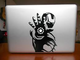 Ironman Mac Vinyl Decal By Northstardecals On Etsy Macbook Decal Stickers Macbook Decal Computer Decal