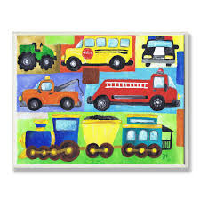 Shop The Kids Room By Stupell Transportation Collage Oversized Rectangle Wall Plaque Overstock 10790827