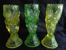 John Derbyshire uranium glass hand vases   Collectors Weekly