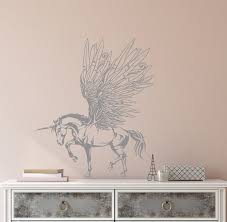 Vinyl Wall Decal Fantasy Pegasus Unicorn Wings Fairy Tale Children S R Wallstickers4you