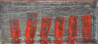 Red Fence Painting By Anton Carduus Artmajeur