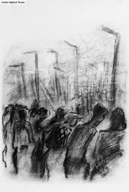 Idea Alm Cyprus Beside A Barbed Wire Fence A Pencil Drawing By Abba Fenichel 1947