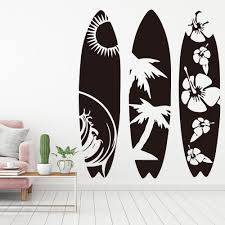 Large Set Of 3 Surfboard Wall Sticker Bedroom Living Room Summer Beach Surf Board Sport Wall Decal Kids Room Children Room Vinyl T200601 Sticker Wall Decor Sticker Wall Decoration From Xue10 11 14