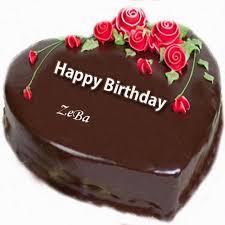 write on happy birthday cake and send on whatsapp