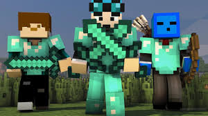 minecraft skins on a wallpaper