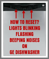 ge dishwasher flashing lights and
