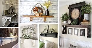 mantel shelf ideas without a fireplace