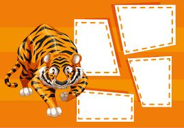 Plantilla De Tigre En Nota Descargar Vectores Gratis