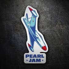 Sticker Pearl Jam Airplane Muraldecal Com
