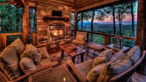 screened porch outdoor fireplace