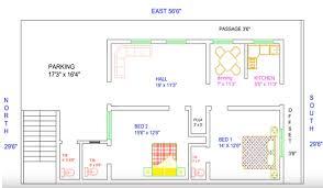 house plan for 29 feet by 56 feet plot