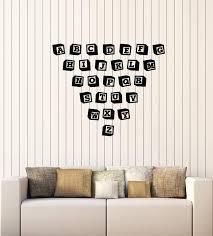 Vinyl Wall Decal Toy Blocks Alphabet Abc Nursery School Class Child Ro Wallstickers4you
