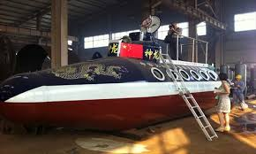 chinese man builds homemade submarine