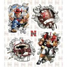 Discount Best To Fan Sport Decor Sale Bestsellers Good Cheap Review Wholesale For On Promotions S Cheap Nebraska Huskers Wallcrasher Wall Decal Multi Smash 4 Pack Quantity Of 1 Wallcrashers